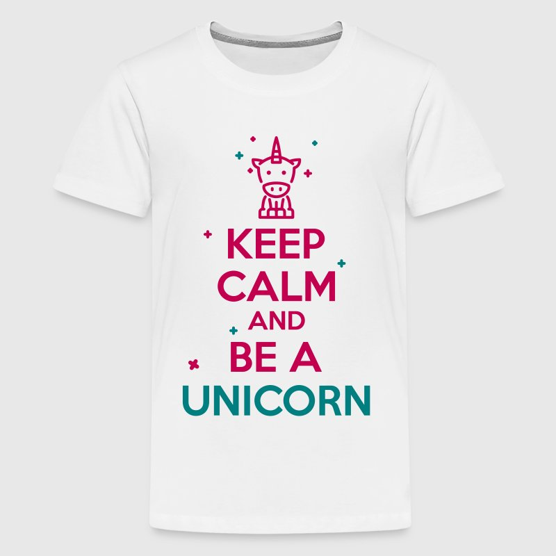 keep calm unicorn - Kids' Premium T-Shirt
