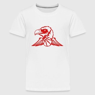 Basketball Logo With Wings basketball vulture wing sports logo 502 - Kids' Premium T-Shirt