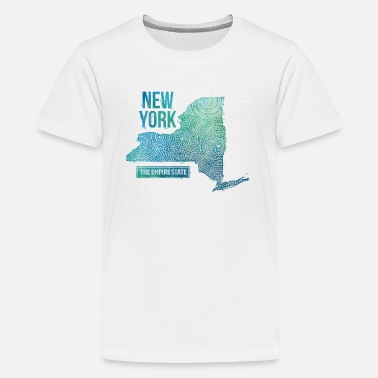 New York State Map New York State - Kids' Premium T-Shirt