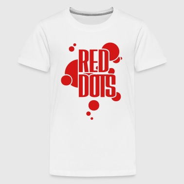 Red Dotted Red Dots - Kids' Premium T-Shirt