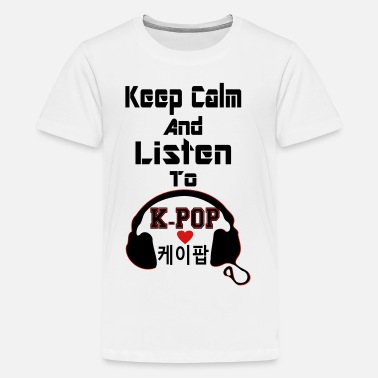 Kara Kpop Clothing ♥♫Keep Calm and Listen to K-Pop-I Love KPop♪♥ - Kids' Premium T-Shirt