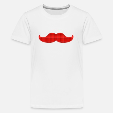 Plaid Tartan moustache tartan plaid - Kids' Premium T-Shirt
