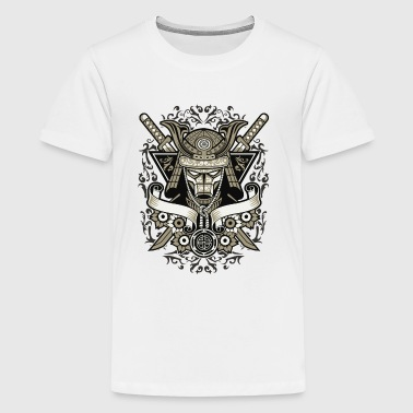 Vintage Japanese Samurai - Skeleton Skull Warrior - Kids' Premium T-Shirt