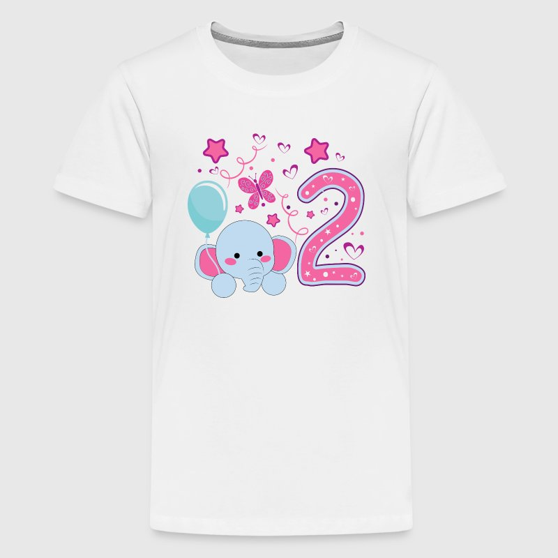 Second Birthday girl 2nd happy birthday gift niece - Kids' Premium T-Shirt