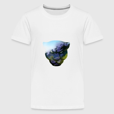 Panther Head Double Exposure - Kids' Premium T-Shirt
