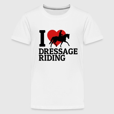 Dressage Riding I love dressage riding - Kids' Premium T-Shirt