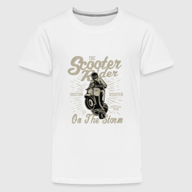 The Scooter Rider On The Storm - Vintage Scooter - Kids' Premium T-Shirt