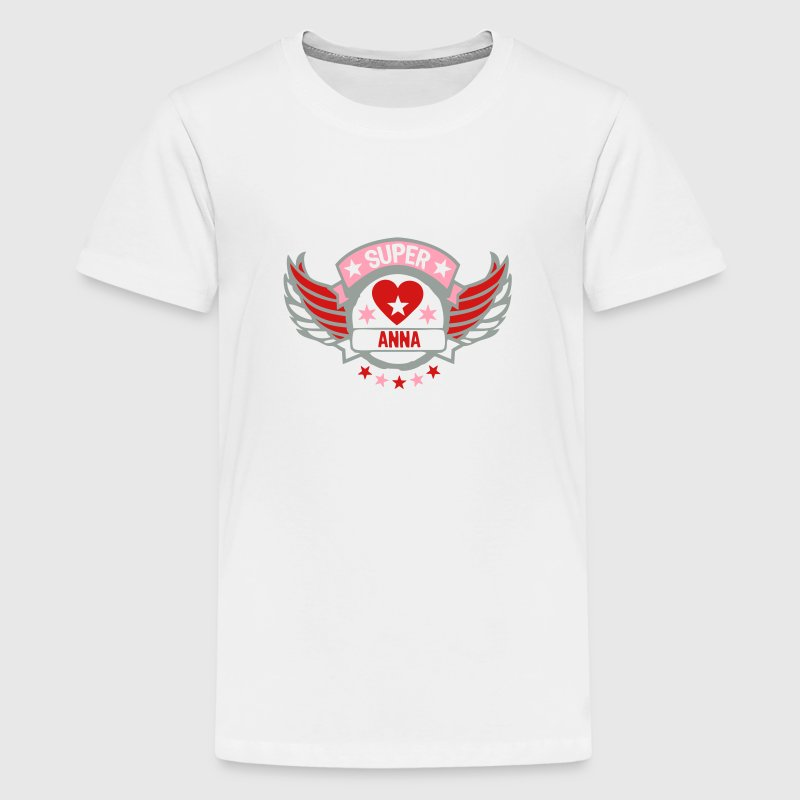 anna super buffer wing logo heart love  - Kids' Premium T-Shirt