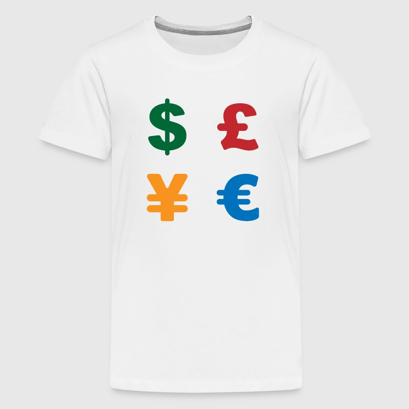 Dollar, pound, yen, euro | Currency symbol - Kids' Premium T-Shirt