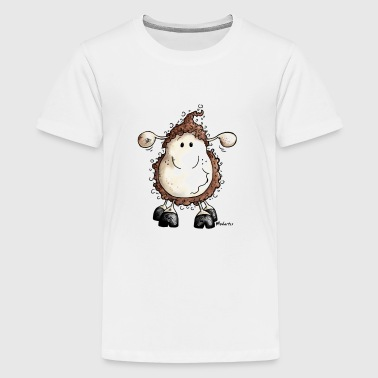 Crazy Cute Sheep Cartoon - Kids' Premium T-Shirt