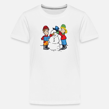 Yesus Cartoon Snowman - Kids' Premium T-Shirt