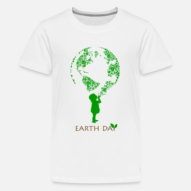 Mother Nature Earth Day Child - Kids' Premium T-Shirt