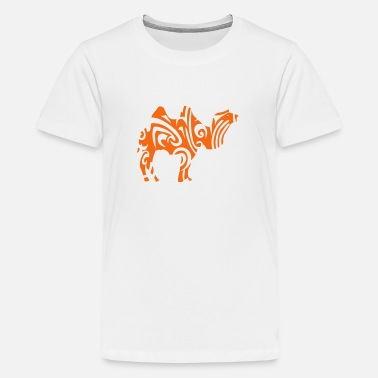 Kids Design Animals Camel tribal camel wild animal designs - Kids' Premium T-Shirt