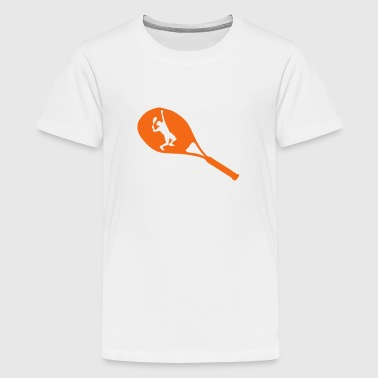 tennis racquet racket player - Kids' Premium T-Shirt