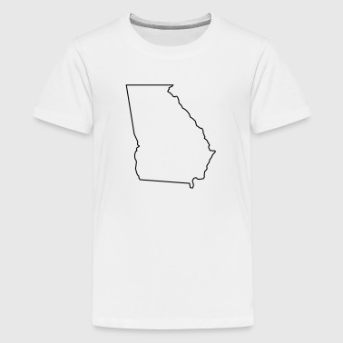 Georgia,map,landmap,land,country,outline - Kids' Premium T-Shirt