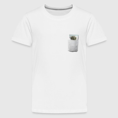 Optical Illusion Pocket Tee Weed - Kids' Premium T-Shirt