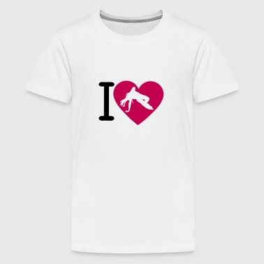 love heart capoeira 1 woman 1210 - Kids' Premium T-Shirt