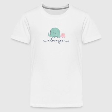 i love you elephants - Kids' Premium T-Shirt