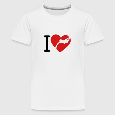 love underwater hockey coeur2 - Kids' Premium T-Shirt
