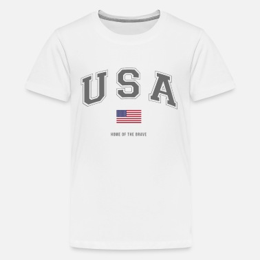 usa home of the brave - Kids' Premium T-Shirt