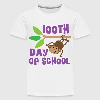 100th Day Of School Monkey - Kids' Premium T-Shirt