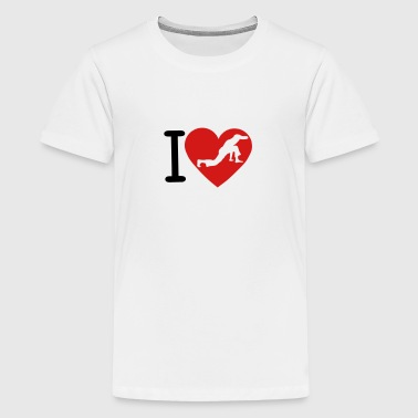 love capoeira 6 1210 heart - Kids' Premium T-Shirt