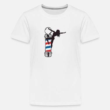 Barber Sexy Sexy Barber Pole Girl - Kids' Premium T-Shirt