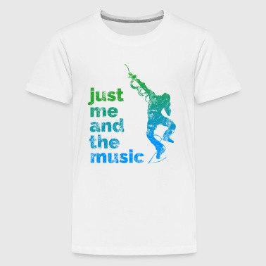 Male Dancer Me and the Music - Kids' Premium T-Shirt