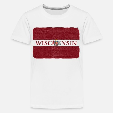 Latvia Wisconsin Latvia Flag - Kids' Premium T-Shirt