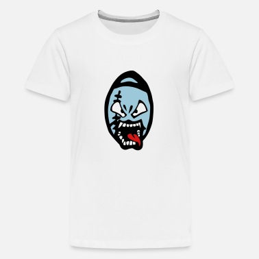 Footballers Cartoon american football rugby cartoon drawing - Kids' Premium T-Shirt
