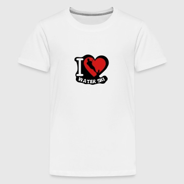 Love Water water ski love heart - Kids' Premium T-Shirt