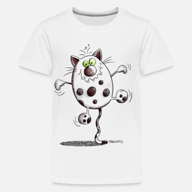 Pussycat Balancing Cat - Cat - Circus - Cartoon - Gift - Kids' Premium T-Shirt