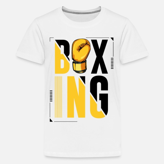 Boxer T-Shirts - Boxing Logo Boxing Gloves Boxer Gift - Kids' Premium T-Shirt white