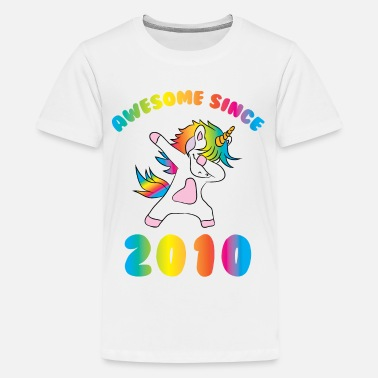 2010 Unicorn Birthday Awesome Since 2010 - Kids' Premium T-Shirt