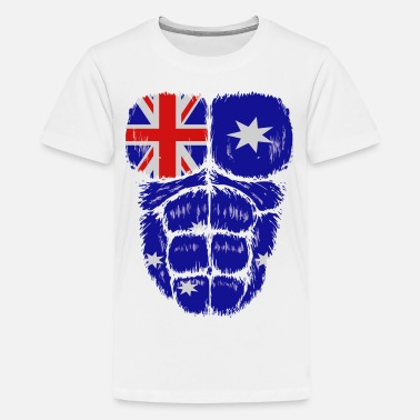 b62da93f Australia flag hulk muscles - Kids' Premium T-Shirt. Kids' Premium T- Shirt. Australia flag hulk muscles