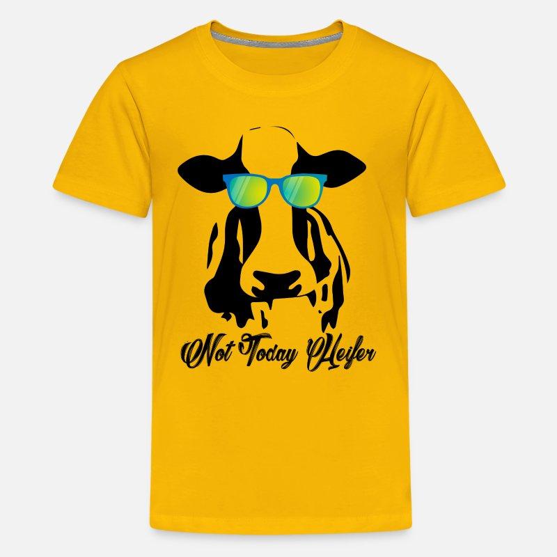 682ec0d00 Not Today Heifer Lazy Funny Cow Kids' Premium T-Shirt | Spreadshirt
