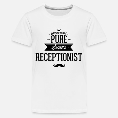 Pure 100 percent pure super receptionist - Kids' Premium T-Shirt