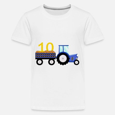 Extra Tractor Birthday/Tenth Birthday shirt - Kids' Premium T-Shirt