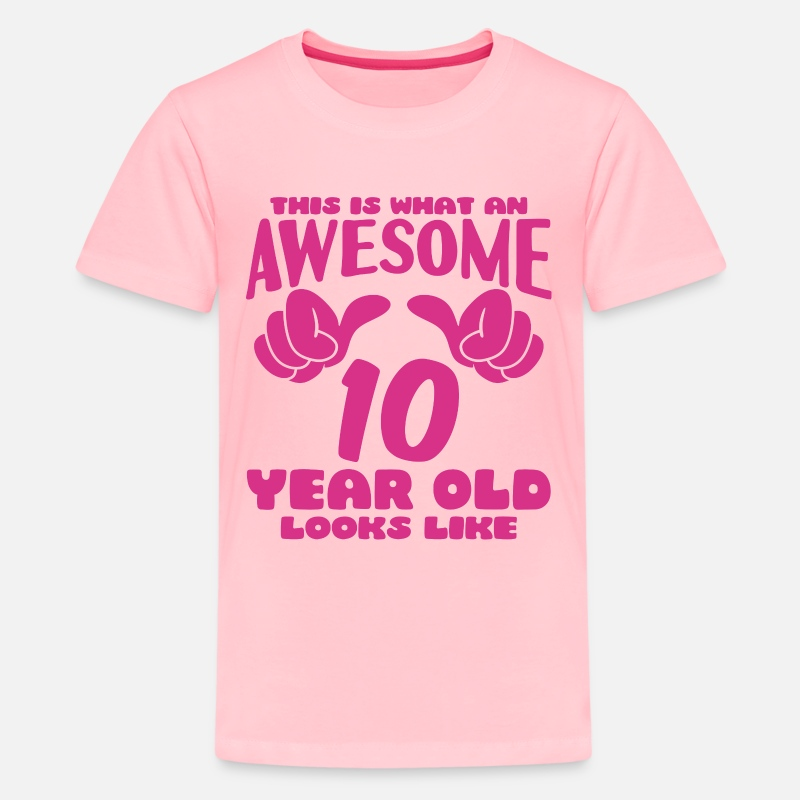 10 Years Of Being Awesome Birthday Gift For 10 Year Old Youth Kids T-Shirt