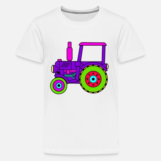 Tractor T-Shirts - toy tractor / toy tractor pink - Kids' Premium T-Shirt white
