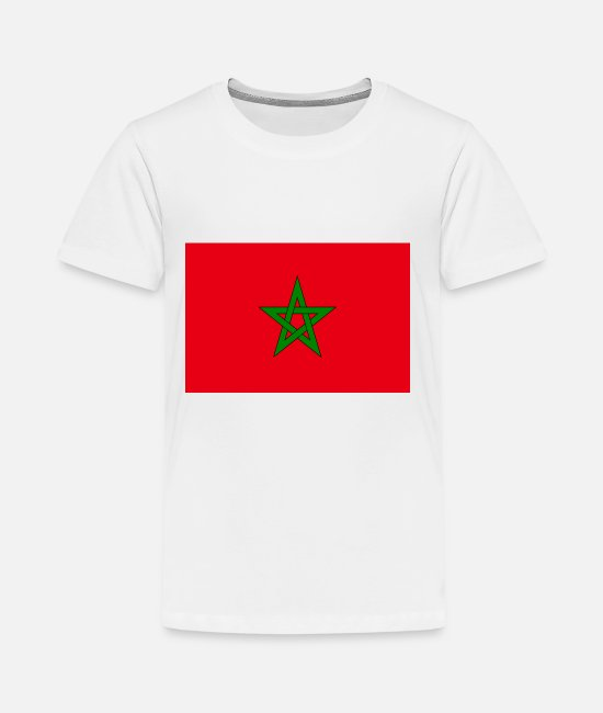 Morocco T-Shirts - Morocco country flag love my land patriot - Kids' Premium T-Shirt white