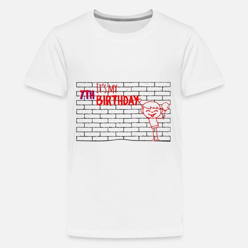Seventh Birthday Kids 7th Shirt Premium T