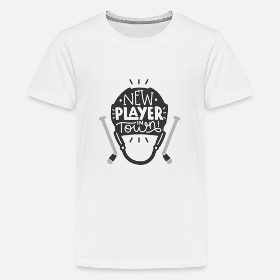 Hockey T-Shirts - New Player In Town Ice Hockey - Kids' Premium T-Shirt white