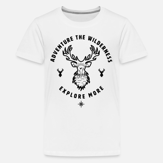 Stag T-Shirts - Deer Nature Wilderness - Kids' Premium T-Shirt white