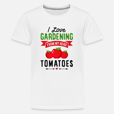 Quotes I Love Gardening from My Head Tomatoes Gift - Kids' Premium T-Shirt