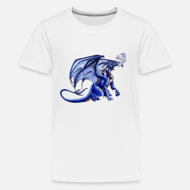 Graphic Art blue dragon - Kids' Premium T-Shirt