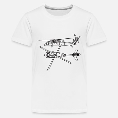 United States Of America Love Helicopter Pilot Huey Chopper T-shirt - Kids' Premium T-Shirt