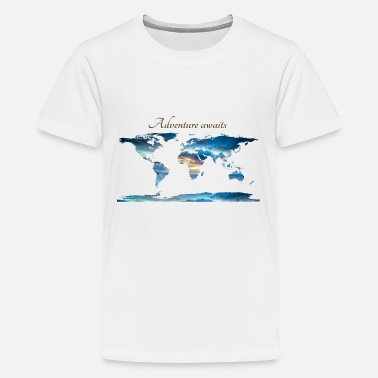 World World map - Let' go! - Kids' Premium T-Shirt