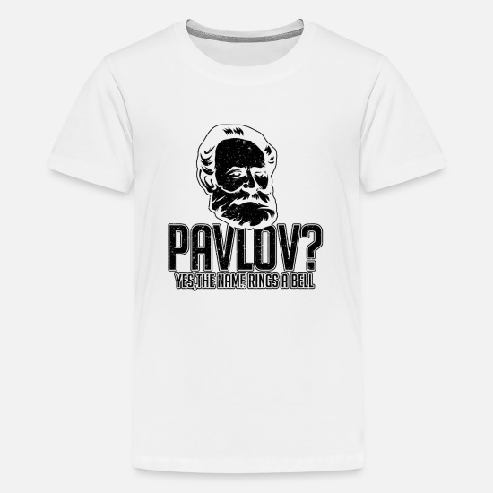 f7a0e20847 Kids' Premium T-ShirtPavlov Dog Funny Science Bell Pun Psychology gift