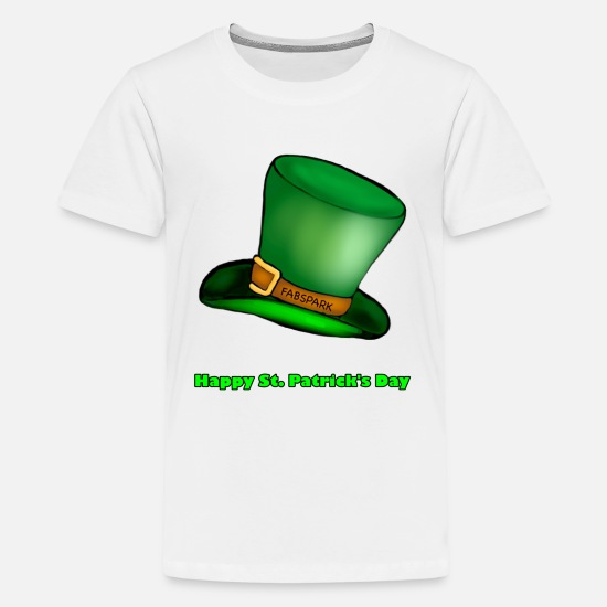 Irish T-Shirts - Happy St Patrick's day, Green text - Kids' Premium T-Shirt white